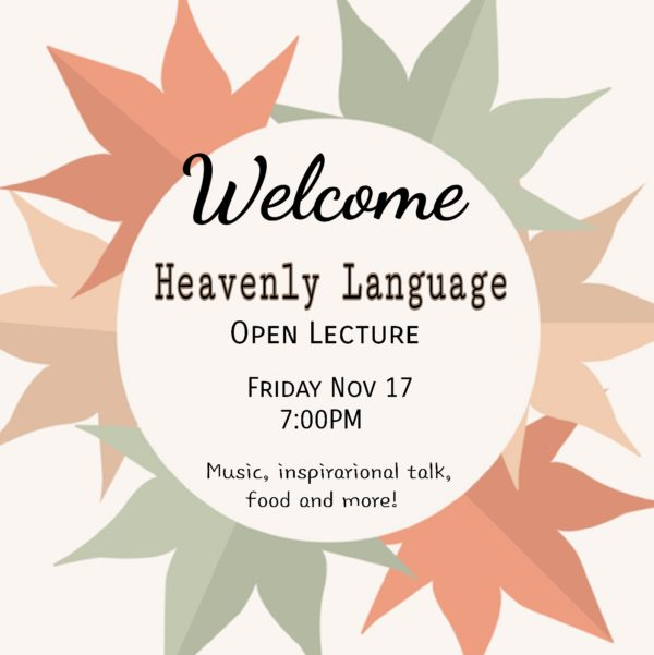 Heavenly language open lecture event